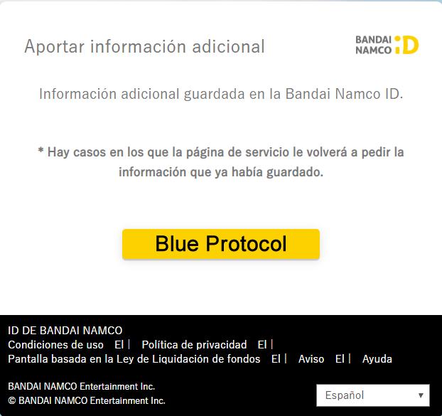 Registro para la Beta Cerrada de Blue Protocol.